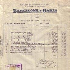 Sellos: ESPAÑA. ZARAGOZA. 1942. FACTURA REINTEGRADA CON SELLO FISCAL. MAGNÍFICA.. Lote 24149092