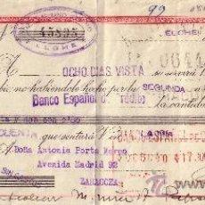 Sellos: ESPAÑA. ELCHE (ALICANTE). 1943. LETRA DE CAMBIO REINTEGRADA CON SELLO FISCAL. MUY BONITA.. Lote 24866581
