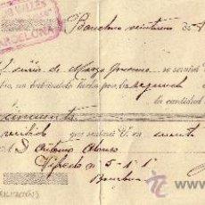 Sellos: BARCELONA. 1940. LETRA DE CAMBIO. MARCA *ESTADO ESPAÑOL* (HABILITACIÓN) SIN SELLO DE REINTEGRO. RARA. Lote 27118171