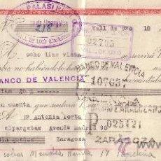 Sellos: ESPAÑA. VALL DE UXÓ (CASTELLÓN). 1943. LETRA DE CAMBIO REINTEGRADA CON SELLO FISCAL. MAGNÍFICA.. Lote 24588214