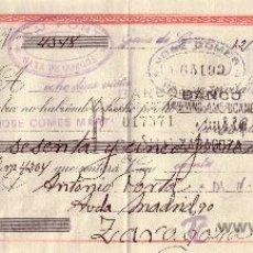 Sellos: ESPAÑA. GATA DE GORGOS (ALICANTE). 1942. LETRA DE CAMBIO REINTEGRADA CON SELLO FISCAL. MAGNÍFICA.. Lote 24451136