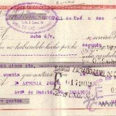 Sellos: ESPAÑA.VALL DE UXÓ (CASTELLÓN).1946. LETRA DE CAMBIO REINTEGRADA CON DOS SELLOS FISCALES. MAGNÍFICA.. Lote 24588196