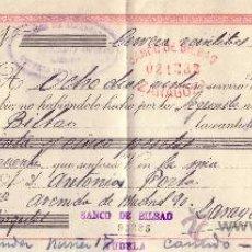 Sellos: CERVERA DEL RÍO ALHAMA (LOGROÑO). 1944. LETRA DE CAMBIO REINTEGRADA CON SELLO FISCAL. MAGNÍFICA.. Lote 22923766