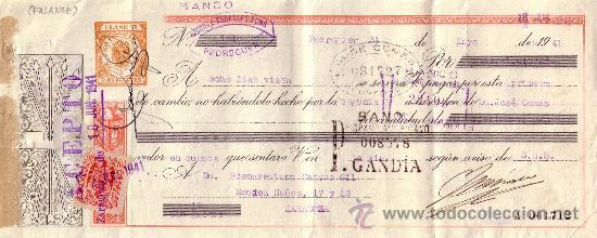 ESPAÑA. PEDREGUER (ALICANTE). 1941. LETRA DE CAMBIO REINTEGRADA CON SELLO FISCAL. MAGNÍFICO. (Sellos - España - Estado Español - De 1.936 a 1.949 - Cartas)