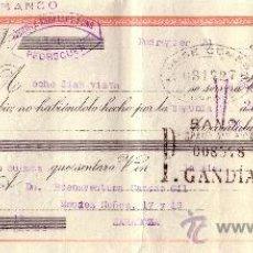 Sellos: ESPAÑA. PEDREGUER (ALICANTE). 1941. LETRA DE CAMBIO REINTEGRADA CON SELLO FISCAL. MAGNÍFICO.. Lote 25018381