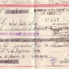 Sellos: BINEFAR (HUESCA). 1945. LETRA DE CAMBIO REINTEGRADA CON DOS SELLOS FISCALES. MAGNÍFICA.. Lote 25737038
