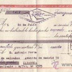 Sellos: ESPAÑA. ZARAGOZA. 1945. LETRA DE CAMBIO REINTEGRADA CON TRES SELLOS FISCALES. MAGNÍFICA.. Lote 25213214