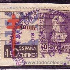 Sellos: GUIPUZCOA.- SELLO 866TA TUBERCULOSOS VARIEDAD ANGULO DELANTE DE CIFRA EN FRAGMENTO CON CENSURA. Lote 22321653