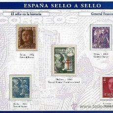 Sellos: HOJA CON REPRODUCCIONES AUTORIZADA POR CORREOS DEL GENERAL FRANCO +ENTIENDA. Lote 20748292