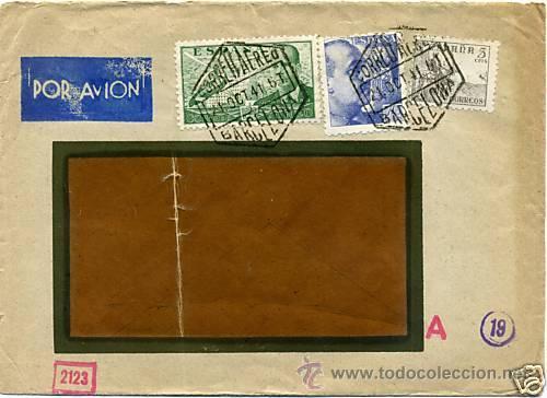 Sellos: CARTA 1941 SELLO EDIFIL 929, 825, 816, CENSURA MILITAR DE BARCELONA , CENSURA MILITAR ALEMANA - Foto 2 - 27370361