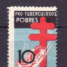 Sellos: ESPAÑA 840 SIN CHARNELA, VARIEDAD LADO INFERIOR SIN DENTAR, PRO TUBERCULOSOS. Lote 19163217
