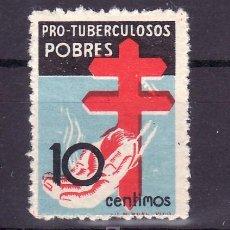 Sellos: ESPAÑA 840 SIN CHARNELA, VARIEDAD CRUZ DESPLAZADA HACIA ARRIBA, PRO TUBERCULOSOS. Lote 15891361