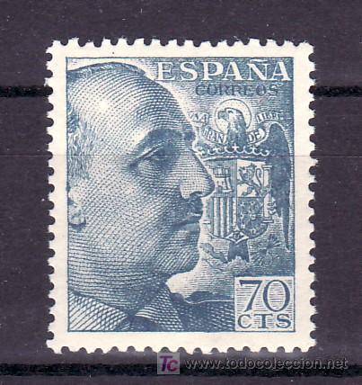 ESPAÑA 1055 SIN CHARNELA, GENERAL FRANCO (Sellos - España - Estado Español - De 1.936 a 1.949 - Usados)