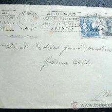 Sellos: ESPAÑA (1947) PRECIOSA CARTA CIRCULADA DE VALENCIA A MURCIA. Lote 26475572