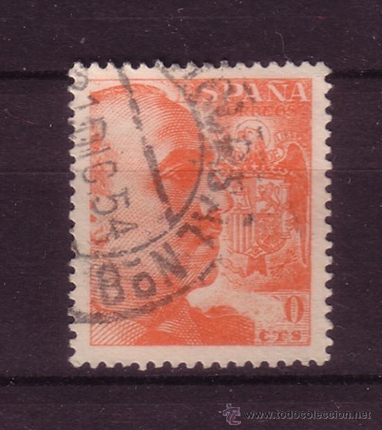 ESPAÑA EDIFIL 1054 - AÑO 1949 - GENERAL FRANCO - 6 DE SESENTA CENTIMOS OMITIDO (Sellos - España - Estado Español - De 1.936 a 1.949 - Usados)