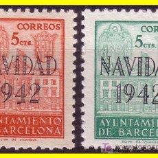 Sellos: BARCELONA 1942 NAVIDAD, Nº SH40/ 41 (*). Lote 18500862