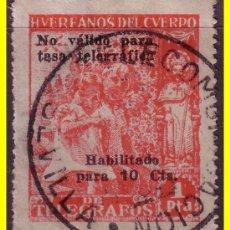 Sellos: BENEFICENCIA HUÉRFANOS TELÉGRAFOS 1938 NIÑOS Y SANTIAGO Nº 20 (O). Lote 19067554