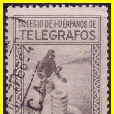 Sellos: BENEFICENCIA HUÉRFANOS TELÉGRAFOS 1955 LITOGRAFIADOS GÁLVEZ Nº 71 (O). Lote 19068325