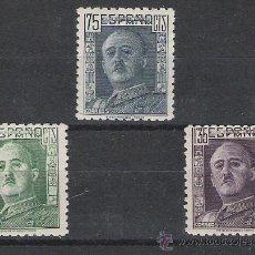 Sellos: SERIE DE ESPAÑA DEL AÑO 1946/1947 GENERAL FRANCO Nº CATALOGO 999/1001. Lote 19680029