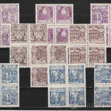 Sellos: PRECIOSO BLOQUE DE CUATRO NUEVO DE LA SERIE DE 1944 DEL MILENARIO DE CASTILLA . Lote 19698872