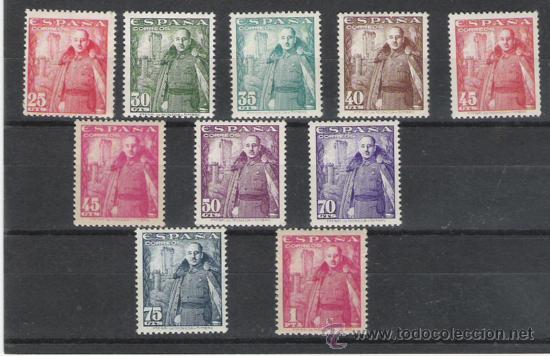 SERIE NUEVA DE 1948 FRANCO Y CASTILLO DE LA MOTA (Sellos - España - Estado Español - De 1.936 a 1.949 - Usados)