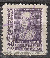 EDIFIL 858, ISABEL LA CATÓLICA, USADO (Sellos - España - Estado Español - De 1.936 a 1.949 - Usados)