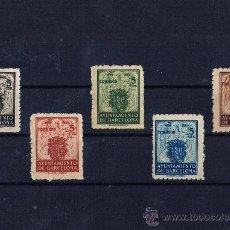 Sellos: AJUNTAMENT DE BARCELONA 1944 NUEVOS * SERIE COMPLETA. Lote 29621610