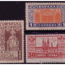 Sellos: 1937 AÑO JUBILAR COMPOSTELANO, EDIFIL Nº 833 A 835 * * . Lote 22743311