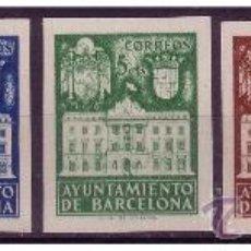 Sellos: BARCELONA 1941 FACHADA DEL AYUNTAMIENTO, EDIFIL Nº 33S A 37S (*) . Lote 22916111
