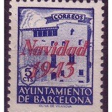 Sellos: BARCELONA 1943 NAVIDAD, EDIFIL Nº SH54 (*). Lote 23346864