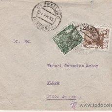 Sellos: SOBRE PIÑOR ORENSE CARBALLINO 25 JULIO 1955. Lote 27564636