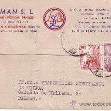 Sellos: 1947 SAN SEBASTIAN A BILBAO. Lote 24696403