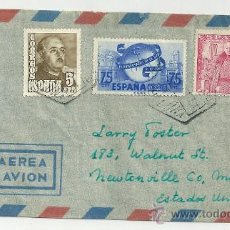 Sellos: CARTA CIRCULADA BARCELONA-MEWTONVILE 1946 NL279. Lote 25101314