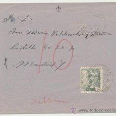 Sellos: CARTA DE PALMA DEL RÍO A MADRID. DE 9 MAYO 1943. FRANQUEADO CON SELLO 924.. Lote 26769615