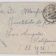 Sellos: CARTA DE MÁLAGA A LOS ANGELES DE 2 MARZO 1940. FRANQUEADA CON SELLO 870 Y CENSURA GUBERNA-. Lote 28191307