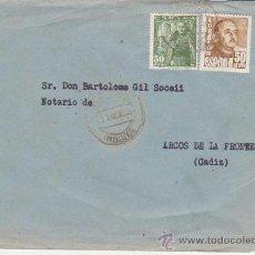 Sellos: CARTA DE AYAMONTE A ARCOS DE LA FRONTERA.FRANQUEADA CON SELLOS 1022 Y 1025.. Lote 28191358