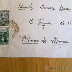 Sellos: E15-CARTA DE A.G.A.ACADEMIA GENEREAL DEL AIRE A ALHAMA DE MURCIA 2 MATASELLOS. Lote 28770507