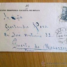 Sellos: E16-CARTA DE TOTANA COMPAÑIA TELEFONICA A PUERTO DE MAZARRON 4 MATASELLOS MURCIA. Lote 28770532