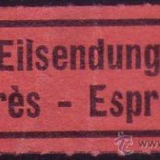 Sellos: ETIQUETA DE CORREO URGENTE * EILSENDUNG/EXPRÉS - ESPRESSO *.. Lote 28927858