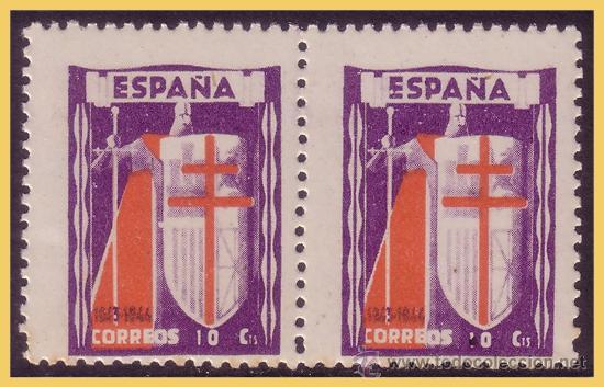 1943 PROTUBERCULOSOS, B2 EDIFIL Nº 970 * * VARIEDAD (Sellos - España - Estado Español - De 1.936 a 1.949 - Nuevos)
