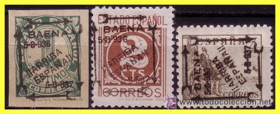 BAENA (CÓRDOBA). ELP BAENA 1937 SELLOS NACIONALES, Nº 16 A 18 * EDIFIL Nº 16 A 18 * (Sellos - España - Estado Español - De 1.936 a 1.949 - Nuevos)
