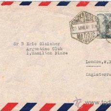Sellos: CIRCULADO 1948 DE MADRID LONDON CON MATASELLOS DE LLEGADA. Lote 29827493
