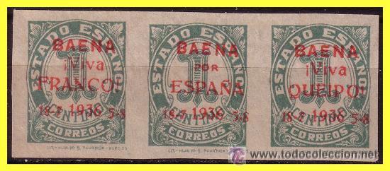 BAENA (CÓRDOBA). ELP BAENA 1937 SELLOS NACIONALES. EDIFIL Nº 16 (*). NUEVOS SIN GOMA. (Sellos - España - Estado Español - De 1.936 a 1.949 - Nuevos)