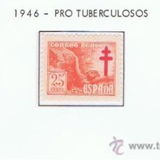 Sellos: PRO TUBERCULOSOS 1946 NUEVOS*/** VALOR 2012 CATALOGO 1.10 EUROS SERIE COMPLETA . Lote 30256159