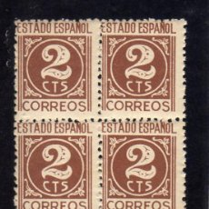 Sellos: CIFRAS - EDIFIL 915 - BLOQUE DE CUATRO.. Lote 30823523