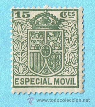 ESPECIAL MÓVIL 15 CÉNTIMOS. ESCUDO CORONA (Sellos - España - Estado Español - De 1.936 a 1.949 - Nuevos)