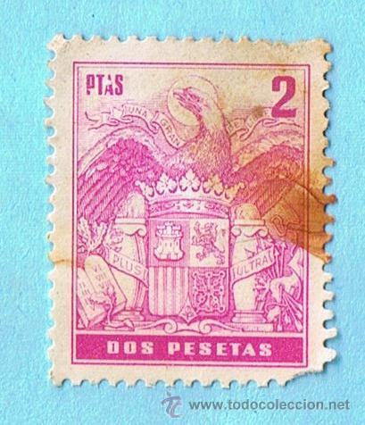 PÓLIZA 2 PESETAS. ESCUDO CON CORONA (Sellos - España - Estado Español - De 1.936 a 1.949 - Nuevos)