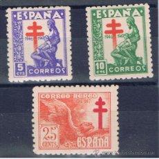 Selos: PRO TUBERCULOSOS 1946 NUEVO** EDIFIL 1008-10 VALOR 2012 CATALOGO 1.20 EUROS SERIE COMPLETA. Lote 31455373