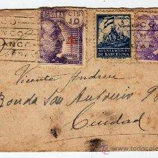 Sellos: SOBRE CON TARGETA Y SELLOS 1940. Lote 31915363