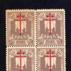 Sellos: PRO-TUBERCULOSOS 1942 - EDIFIL 958 - BLOQUE DE CUATRO.. Lote 32364835